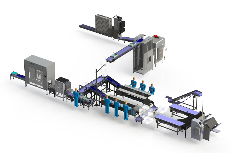 Flexible packing line